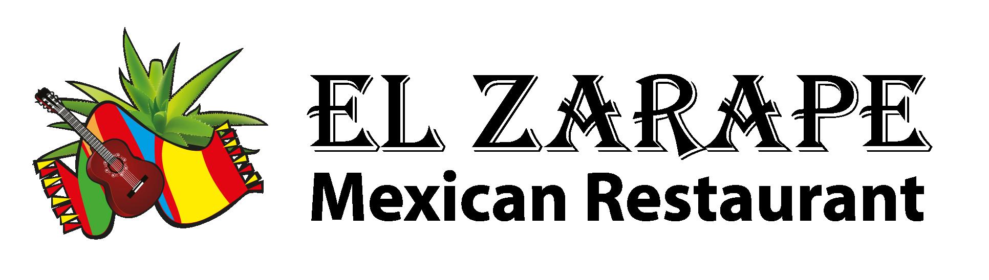 El Zarape Logo - Horizontal - Black