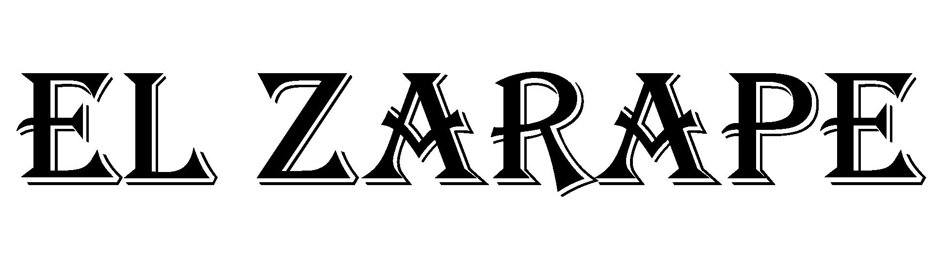 El Zarape Logo - Typesetting - Black